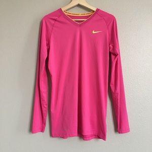 NIKE Hot Pink Long Sleeve Tee T